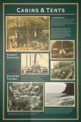 Poster about Cabins and Tents at Camp Roosevelt